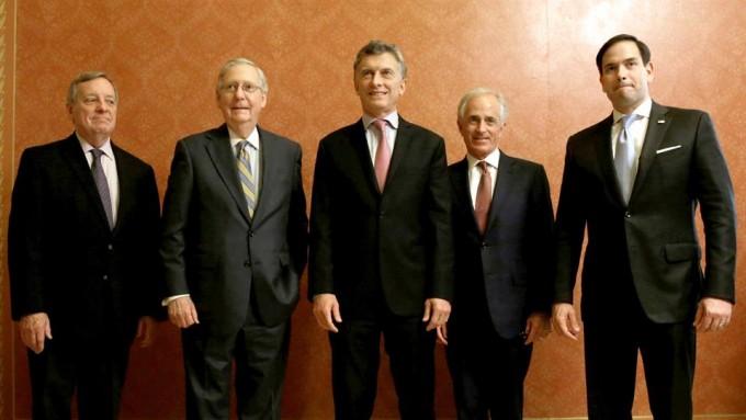 Mauricio Macri se reunió con líderes parlamentarios de los Estados Unidos