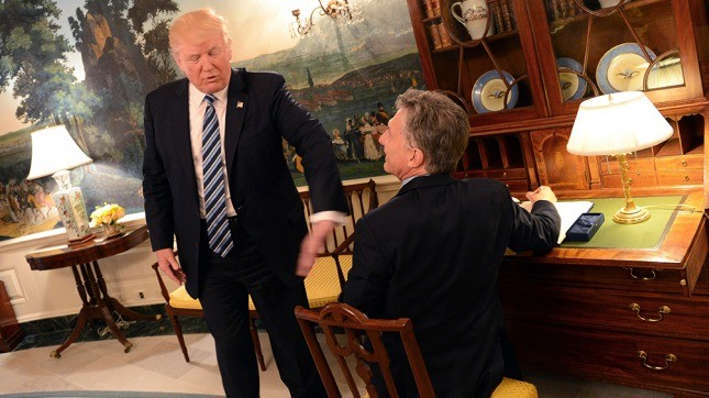 Declaración conjunta emitida por Mauricio Macri y Donald Trump