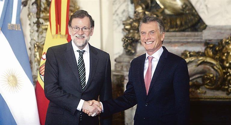 Rajoy le garantizó a Macri acuerdo político entre el Mercosur y la UE