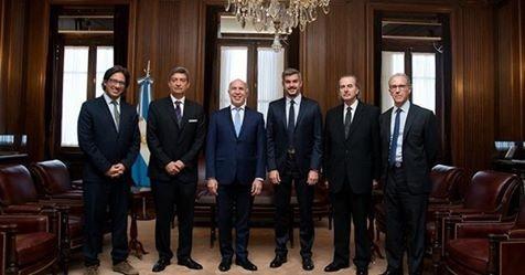 Peña y Garavano se reunieron con los integrantes del máximo tribunal