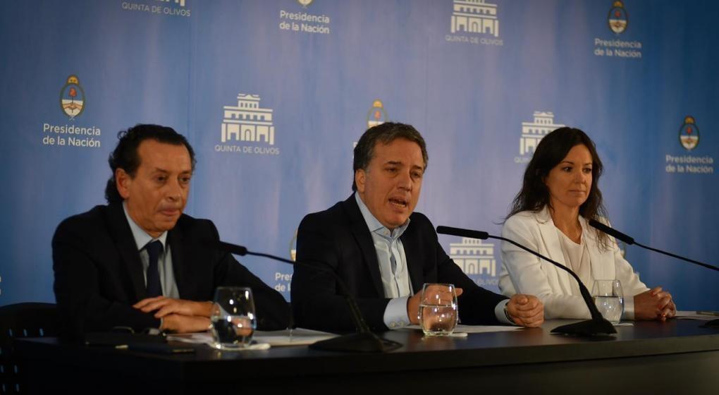 Conferencia de prensa de Dujovne, Stanley y Sica