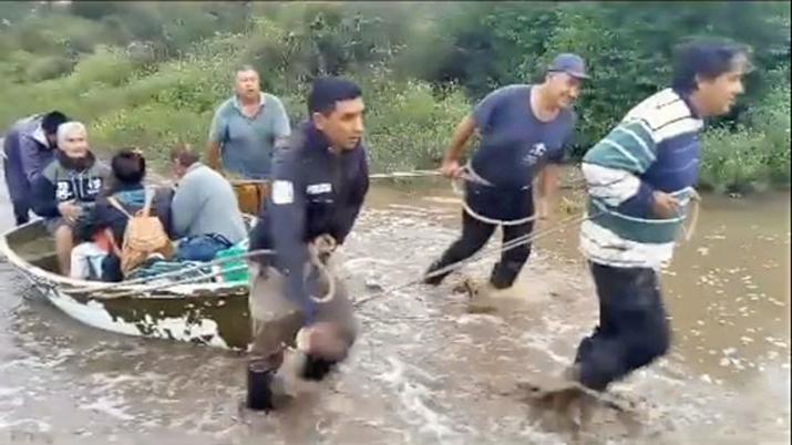 El sudeste santiagueño nuevamente inundado