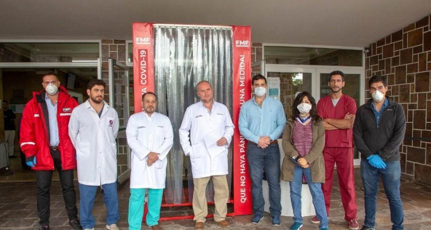 El hospital San Bernardo posee cámara de desinfección