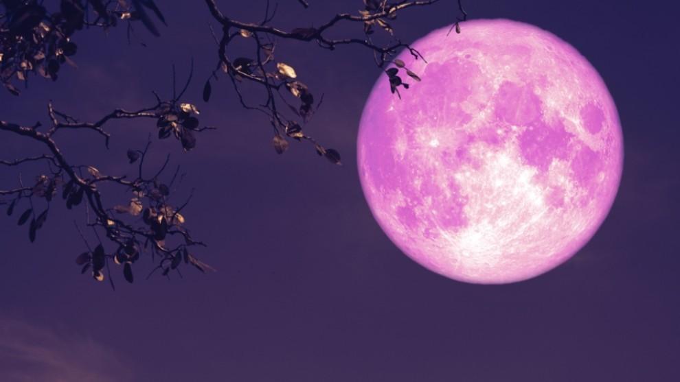 La  belleza de la Superluna rosa del 2021