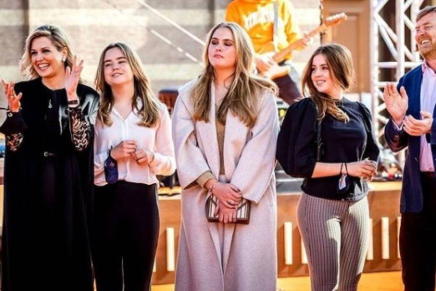 El gesto de Máxima y sus hijas que sorprendió al pueblo holandés