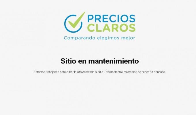 Estrenó con dificultades la página de Precios Claros que busca controlar supermercados