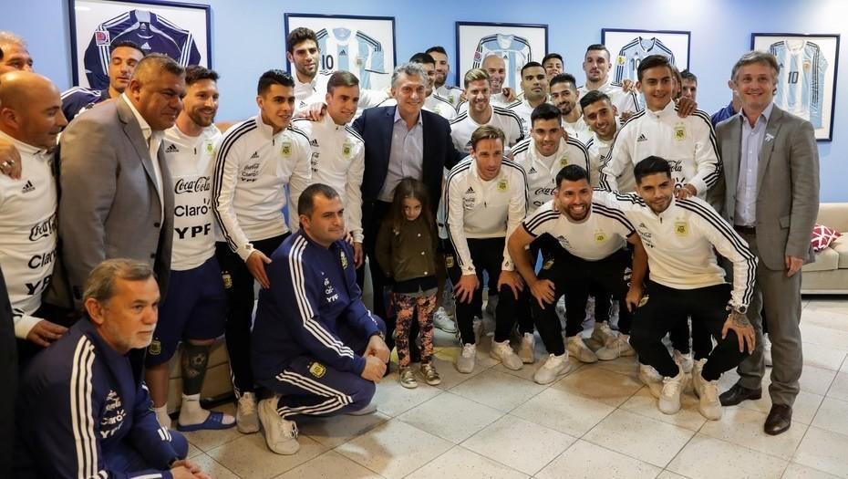 El Presidente despidió al seleccionado Argentino