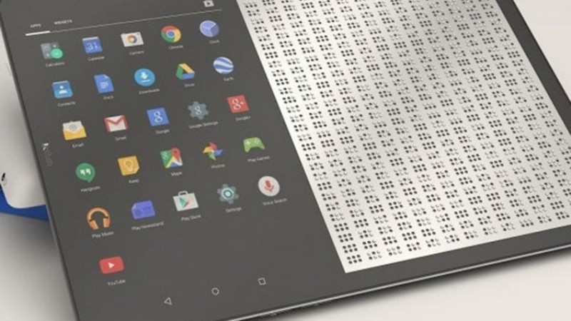 Tabletas con tinta inteligente para traducir webs al braille