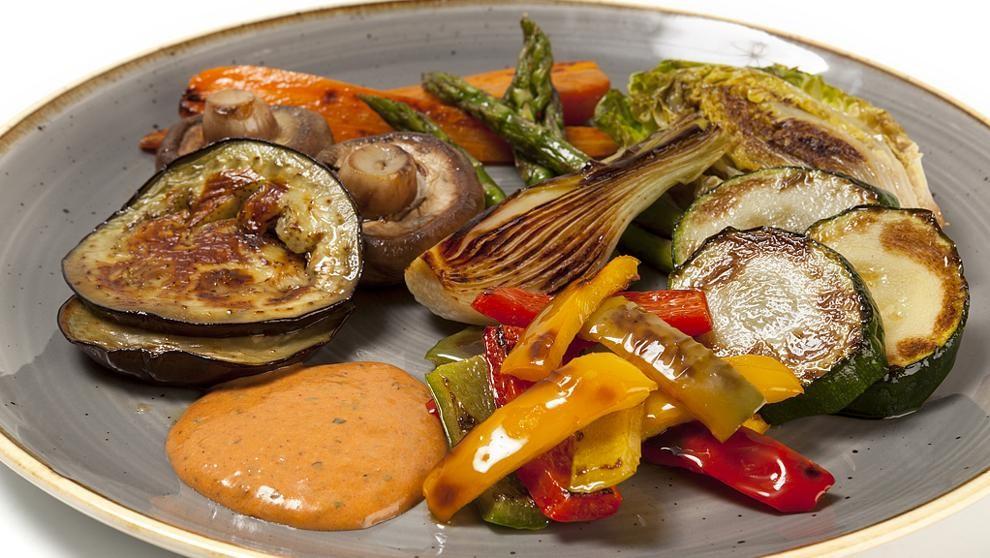 Saludable parrillada de verduras