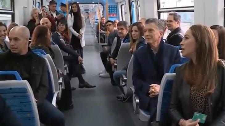 Mauricio Macri inauguró el Viaducto Mitre
