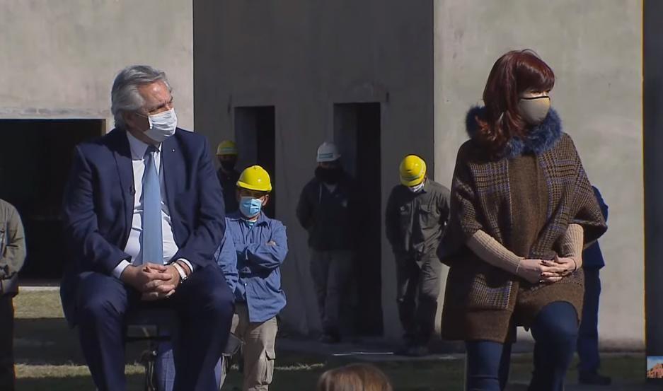 Alberto Fernández y Cristina Kirchner comparten un acto