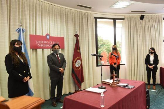 Sáenz tomó juramento a las nuevas funcionarias del Ministerio de Desarrollo Social