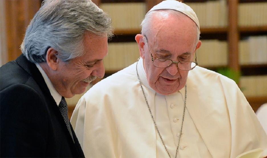El Presidente se reunió a solas con el papa Francisco