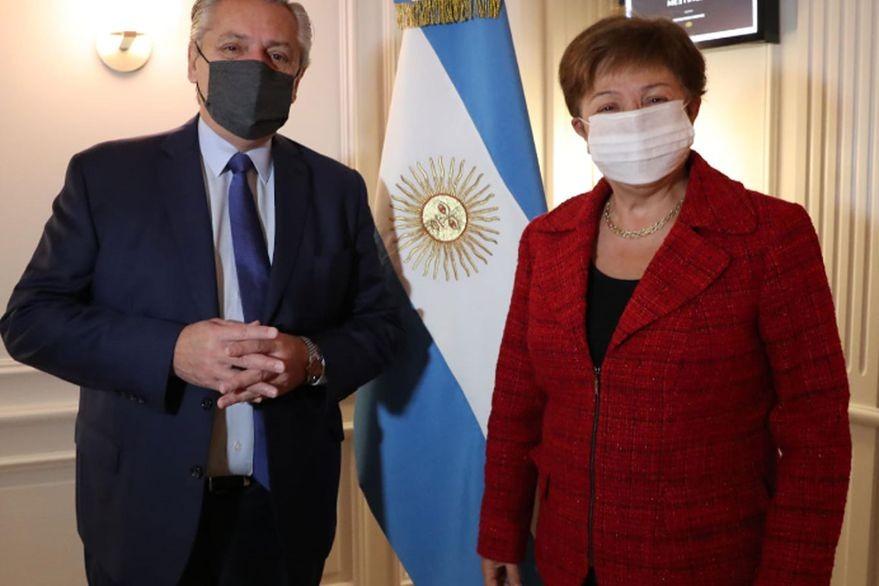 Alberto Fernández y Kristalina Georgieva se reunieron en Roma