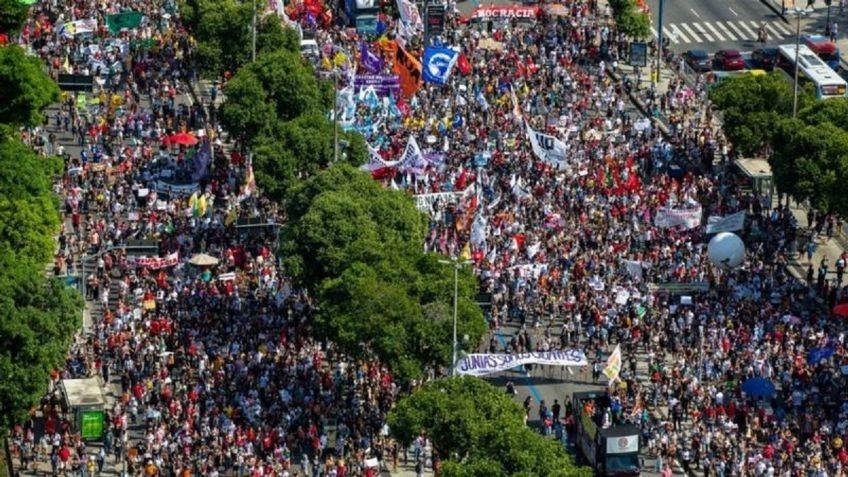 Multitudinarias marchas del #29M contra Bolsonaro