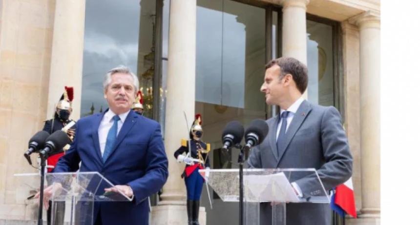 Fernández se reunió con Macron