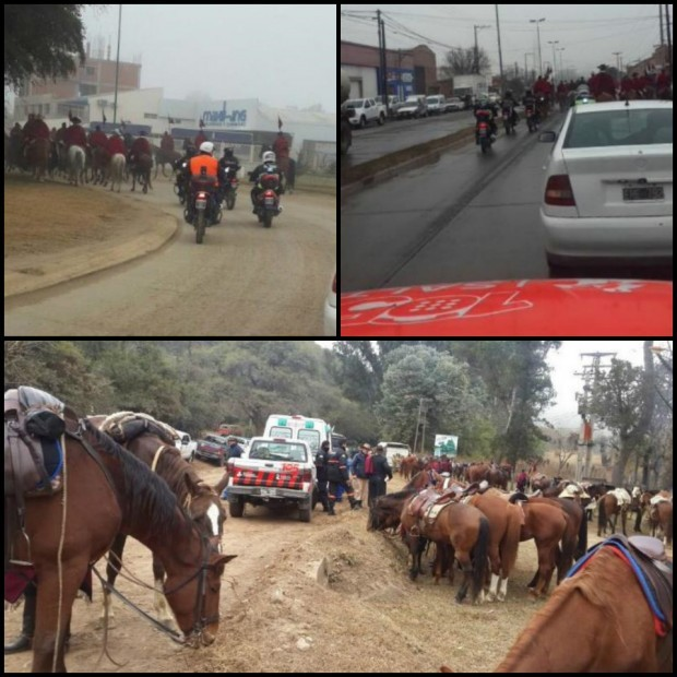 Prevención y Emergencias acompañó la cabalgata hacia la Quebrada de la Horqueta