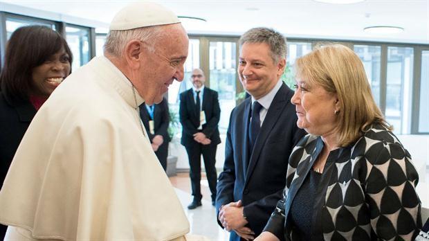 El Papa recibio a la cancille Malcorra