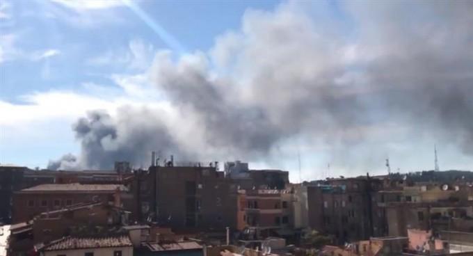 Roma:incendio en depósito de autos cercano al Vaticano