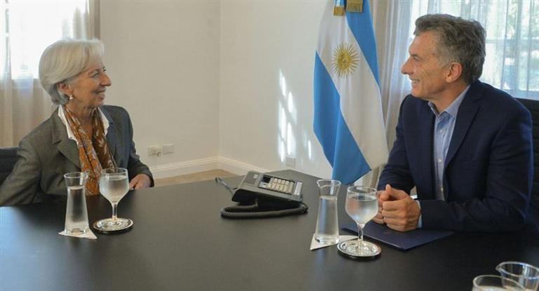 Macri se reunirá hoy con Lagarde antes del G7