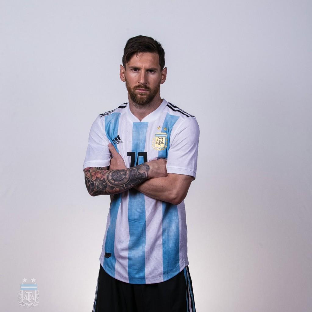 Las fotos oficiales de los jugadores argentinos