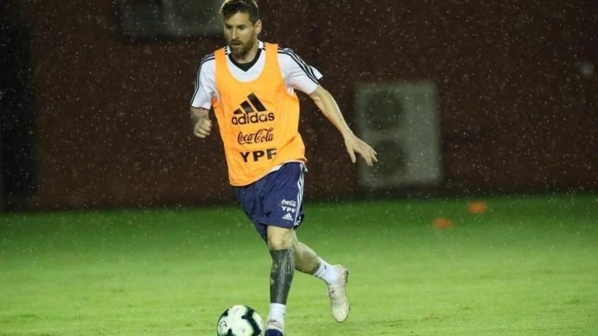 La Selección tuvo su primera práctica en Brasil
