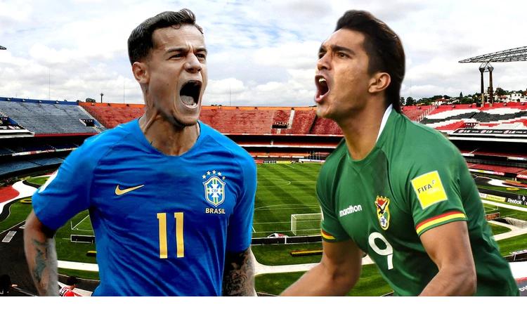 Copa América en San Pablo:Brasil y Bolivia