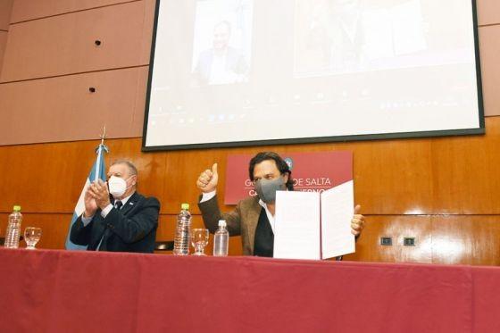 El gobernador Sáenz firmó acuerdos con Nación para la puesta en valor de Finca El Carmen y Fuerte de Cobos