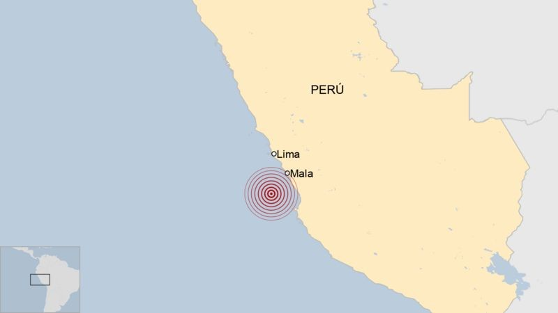 Un fuerte sismo sacude Lime sin que se hayan reportado víctimas