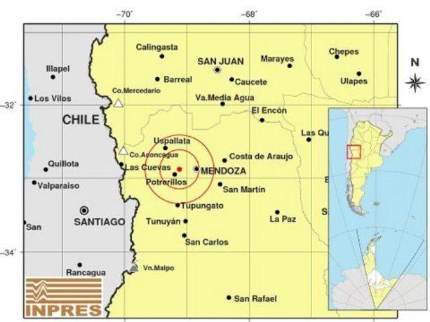 Tres fuertes sismos que sacudieron Mendoza este miércoles