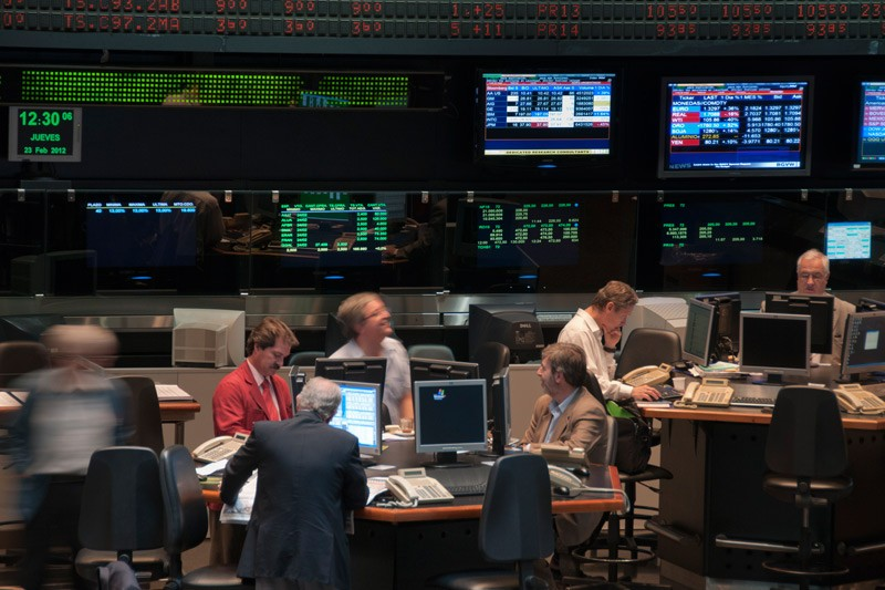 La Bolsa de Valores Argentina cerro negativa