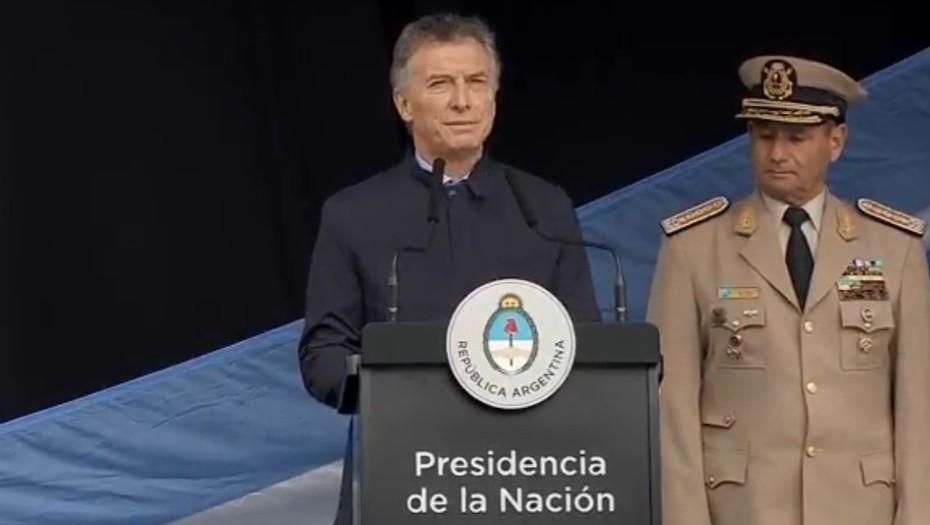 Macri resaltó el papel de las fuerzas de seguridad