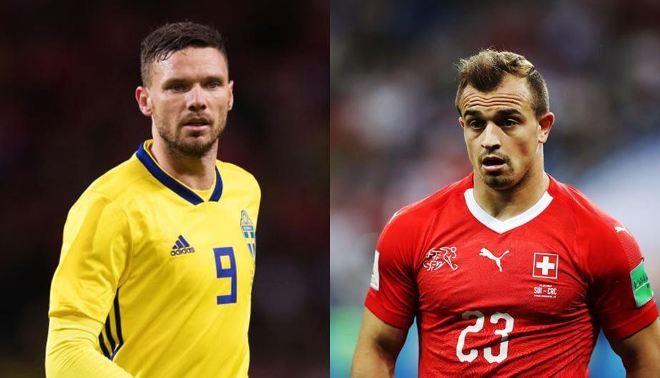 Suecia vs Suiza octavos de final Mundial Rusia 2018