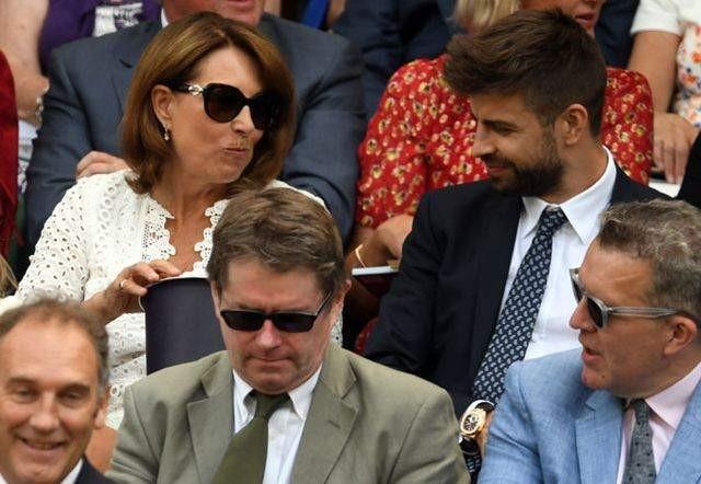 Wimbledon ha reunido a Gerard Piqué y Carole Middleton