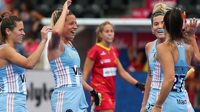 Las leonas derrotaron a España en su debut mundialista