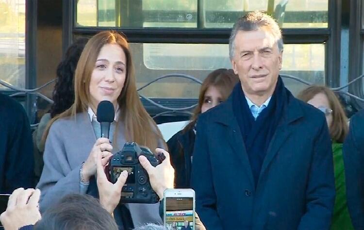 Macri y Vidal inauguran el metrobus en San Martín