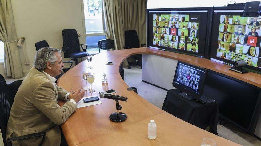 Alberto Fernandez participo en video conferencia con el Grupo de Puebla