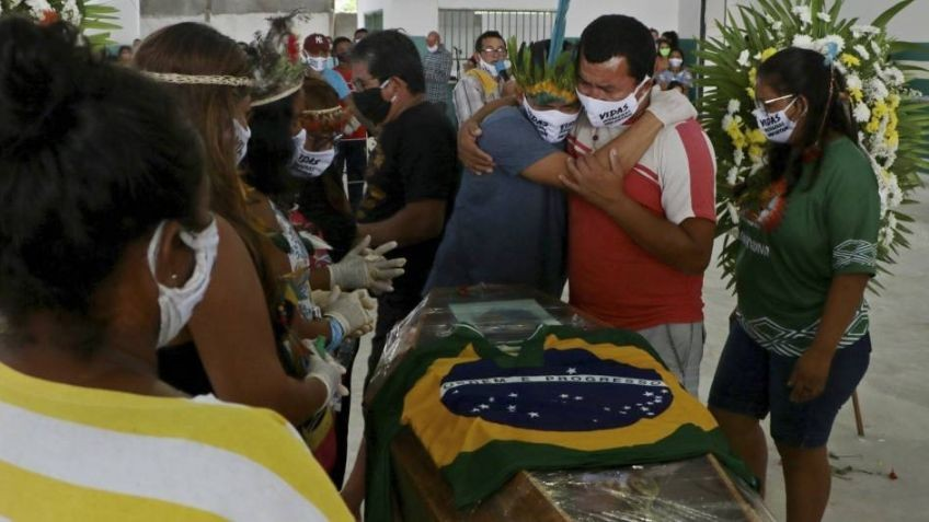 Brasil marcó hoy un nuevo récord de fallecimientos diarios por coronavirus