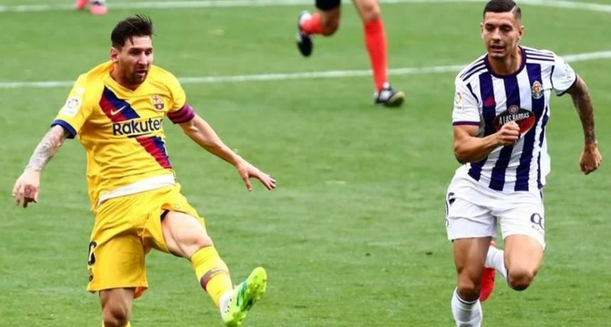 Barcelona derrotó 1 a 0 al Valladolid  por la Liga de España