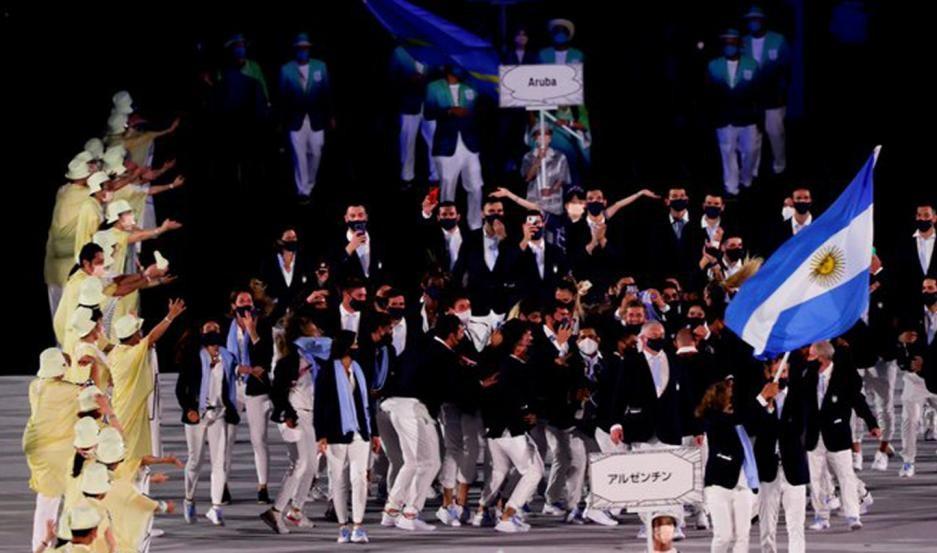 Juegos olímpicos la delegación argentina desfila