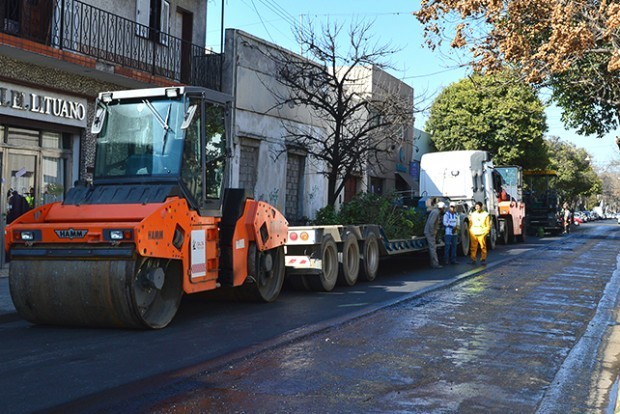 Repavimentarán calle Córdoba entre San Juan y San Luis