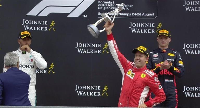 Sebastian Vettel conquistó el GP de Bélgica