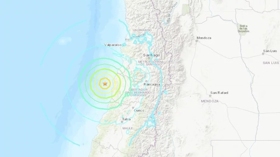Fuerte temblor sacudió la costa chilena