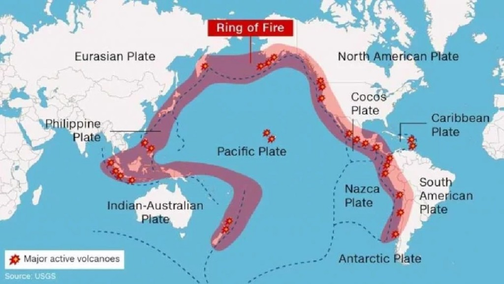 Fuerte sismo del océano Pacífico