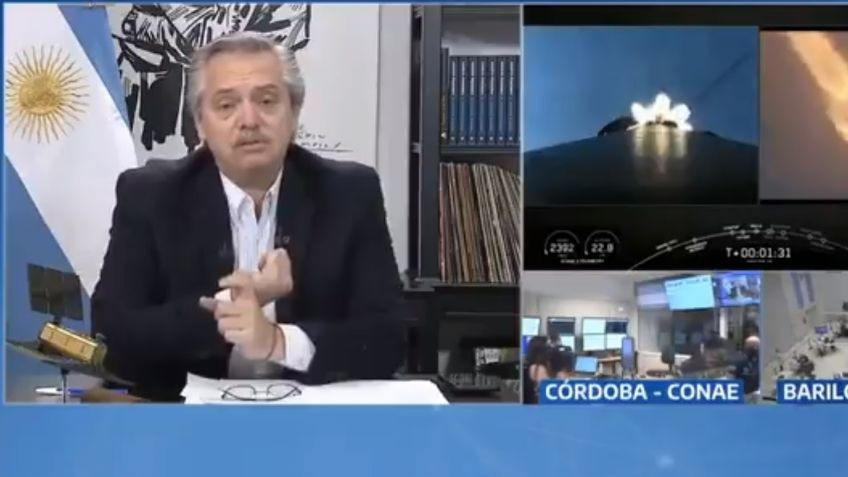 Alberto Fernández destacó el lanzamiento del satélite Saocom 1B