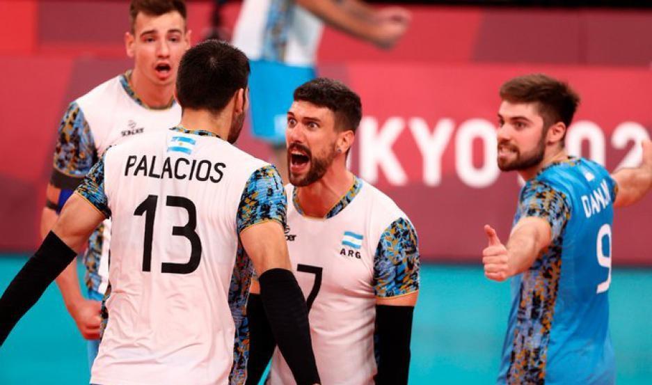 El seleccionado argentino de vóleibol avanzó a las semifinales de los Juegos Olímpicos