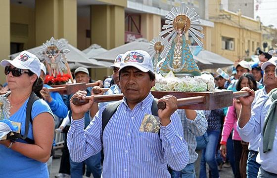 Los peregrinos de Molinos llegaron a la Catedral de Salta