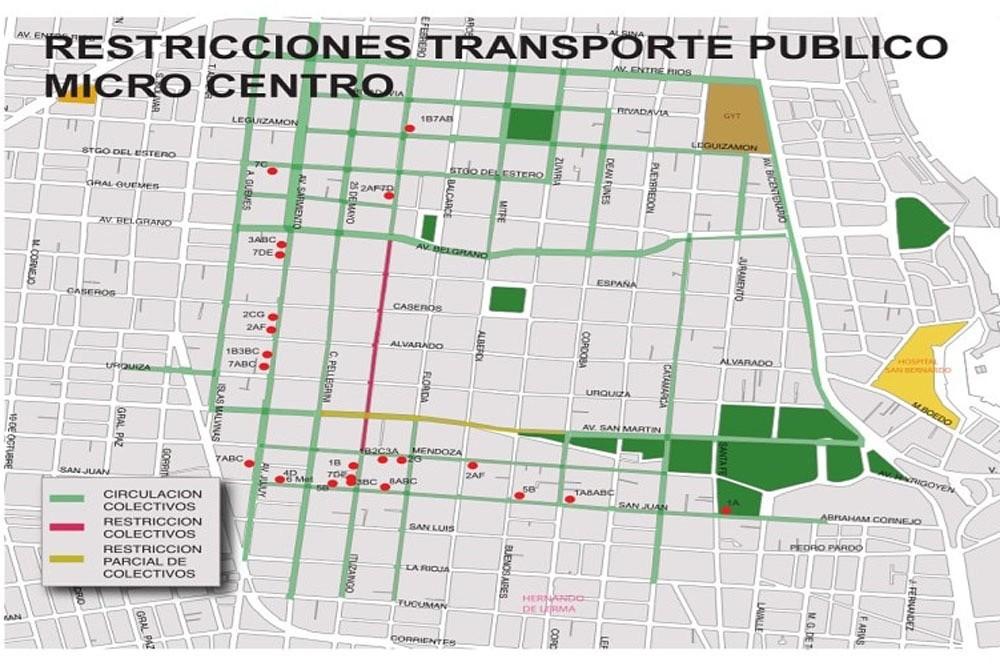 SAETA: Cambio de recorridos y paradas por filtros en el centro de la ciudad