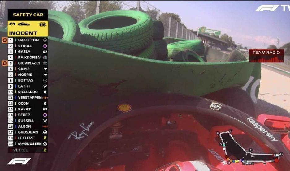 Tremendo accidente de Leclerc que paró el Gran Premio de Italia