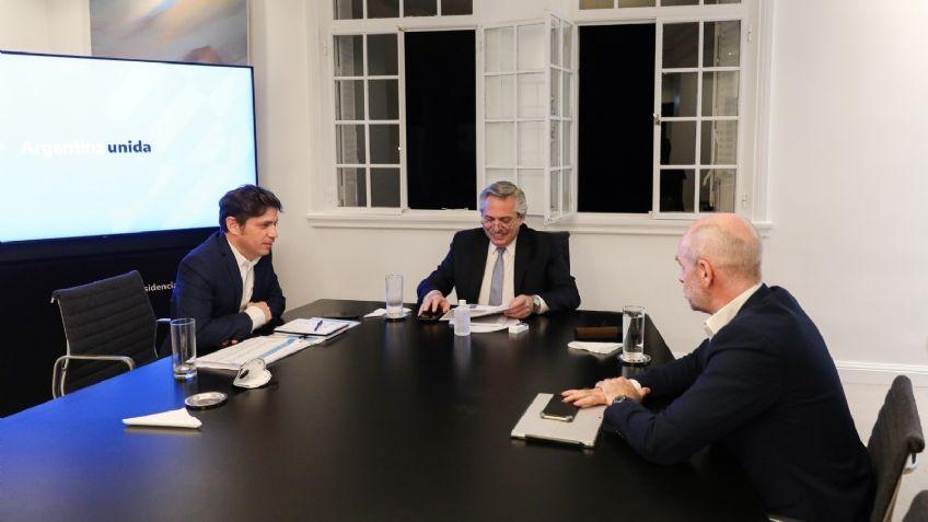Fernández, Kicillof y Larreta acuerdan nuevas flexibilizaciones y aperturas